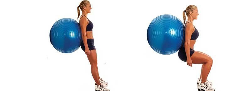 Fitball-Squat